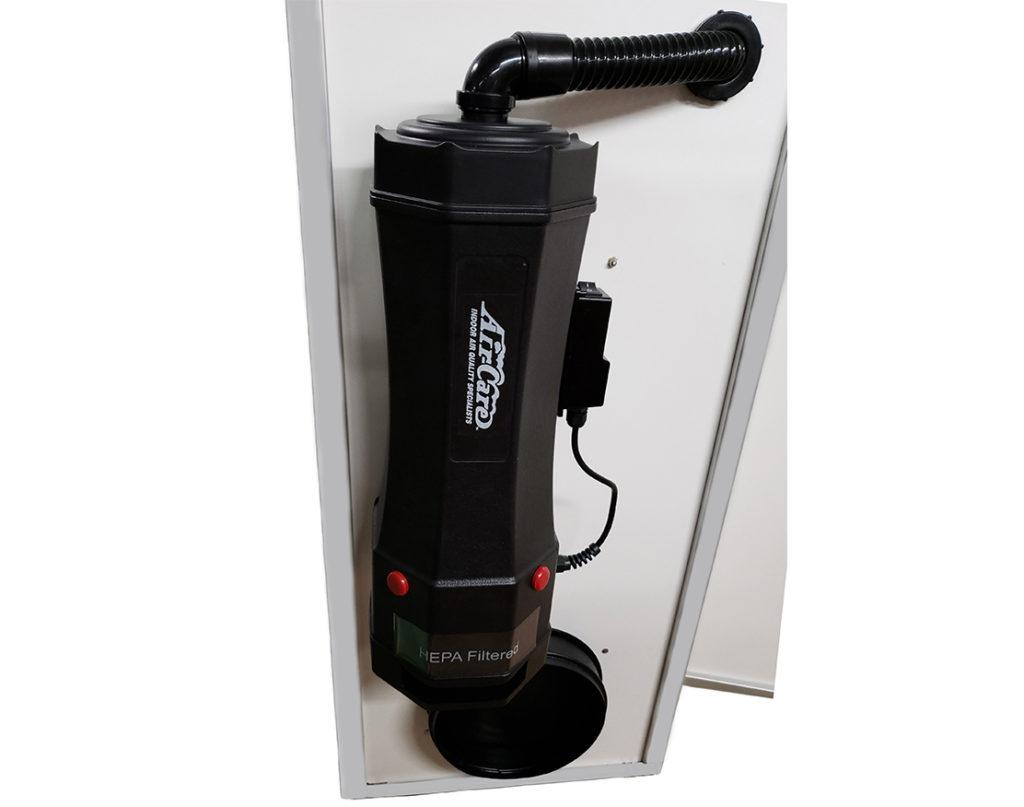 HEPA Vac Ports of the Bio Room In-Corridor Anteroom or Abatement Door