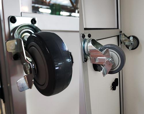 Casters of Bio Room In-Corridor Anteroom or Abatement Door