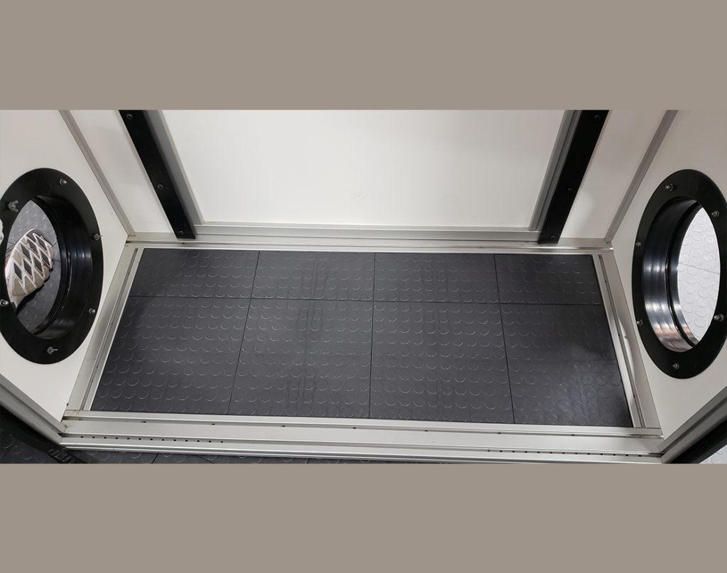 Scrubber attachment of the Bio Room In-Corridor Anteroom or Abatement Door